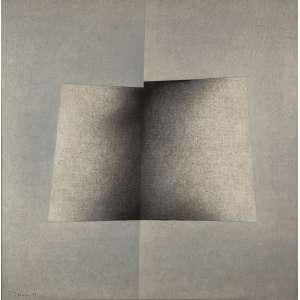 """TOMIE OTHAKE<br>""""Sem titulo""""<br> Óleo sobre tela.<br> Ass.dat.1979 inf.esq,ass.no verso.<br> 99 x 99 cm.<br> <br>"""