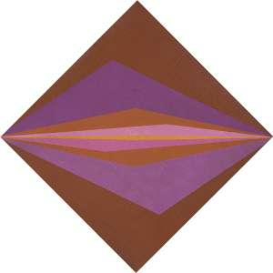 """HÉCULES BARSOTTI<br>""""Conjugação diagonal I""""<br> Acrílico vinilica sobre tela.<br> Ass.tit.dat. 1972 no verso.<br> 49,5 x 49,3 cm.<br> Com etiqueta da Exposição do artista """"Opostos e determinantes"""" de 03/09 á 29/10 Galeria Frente.<br>"""