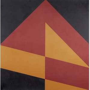 """VALDEIR MACIEL - """"Sem titulo"""" - Óleo sobre tela. Ass. dat. 1989 no verso. 80 x 80 cm."""