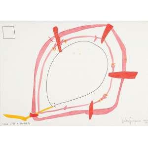 ÉSTER GRINSPUN - Tema nº 13: A natureza. Desenho á lápis e guache sobre papel. Ass.dat. 1984 inf.dir,tit.inf.esq. – 35 x 50 cm.