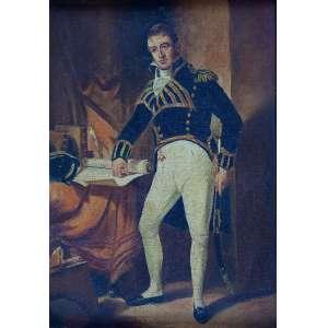 EURICO - Óleo sobre tela retratando provavelmente D. Pedro II – Ass.inf.esq. – 27 x 19 cm.
