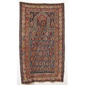 Tapete de oração CAUCASIANO SHIRVAN MARASALI - Medindo 2,04 por 1.12 cm - Séc. XIX. - Ótimo estado de conservação.
