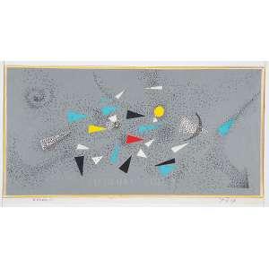 """FERREIRA GULLAR - """"Cosmo 2"""" Nanquim e colagem sobre cartão. Ass.dat. 2007 inf.dir. tit. inf.esq. 12 x 23 cm."""