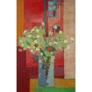 """IVAN MARQUETTI - """"Flores"""" Óleo sobre tela. Ass. dat. 1983 inf. esq. Ass. tit. dat. loc. """"Olinda"""" e num 75 no verso. 100 x 65 cm."""