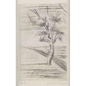 """CANDIDO PORTINARI - """"Árvore"""" Gravura em metal. H. C. Ass. inf. dir. 12 x 18 cm. Ex. Coleção Sylvia Sodré Assumpção."""