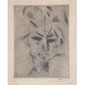"""LASAR SEGALL - """"Figura"""" Gravura em metal. 2/7. Ass. dat. 1918 inf. dir. 22 x 18 cm. Ex. Coleção Sylvia Sodré Assumpção."""