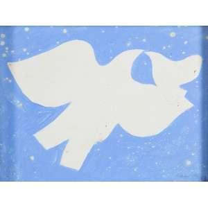 """MILTON DA COSTA - """"Pássaros"""" Guache sobre papel. Ass. dat. 1963 inf. dir. 12 x 16 cm. Ex. Coleção Sylvia Sodré Assumpção."""
