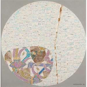 "WAKABAYASHI - ""Sem titulo"" Óleo sobre tela. Ass. dat. 1990 inf. dir. 50 x 50 cm."
