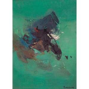 """TIKASHI FUKUSHIMA - """"Sem titulo"""" Óleo sobre tela. Ass. inf. dir. 52 x 39 cm."""