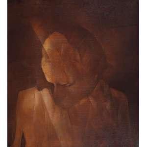 """BERNARDO CID - """"Auto retrato"""" Óleo sobre tela. Ass. dat. 1980/1981 no verso. 100 x 90 cm. Reproduzido na capa do livro """"Fazer Arte A Ordem Oculta de Bernardo Cid"""" e Reproduzido na pág. 8 exposto na Caixa Cultural de São Paulo em 2011 e na Caixa Cultural de Brasília 2012."""