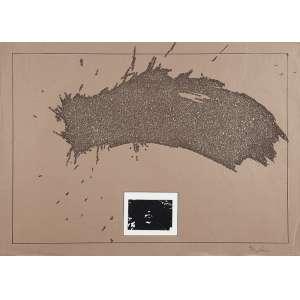 """CARLOS VERGARA - """"Sem titulo"""" Desenho á caneta e colagem de gliter sobre papel. 12/20. Ass. inf. dir. 50 x 70 cm."""