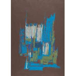 "MARIA LEONTINA - ""Sem titulo"" Pastel. Ass. dat. 1961 inf. dir. 66,5 x 48 cm."