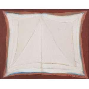 """MARIA LEONTINA - """"Sem titulo"""" Óleo sobre tela. Ass. inf. dir, ass. dat. 1973 no verso. 40 x 50 cm."""