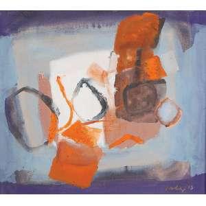 """YOLANDA MOHALYI - """"Sem titulo"""" Guache sobre papel. Ass. dat. 1963 inf. dir. 48 x 54 cm."""