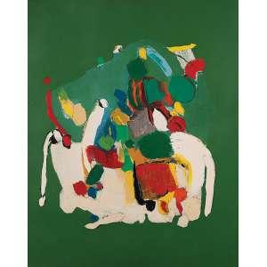 """MARIA POLO - """"Opus 380"""" Óleo sobre tela. 1966. Sem ass. 81 x 65 cm. Ex. Coleção José Neisten. Pertencente Instituto Cultural Brasil – Washington."""