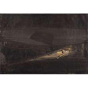 """MARIA POLO - """"Sem titulo"""" Óleo sobre tela. Ass. dat. 1964 inf. dir. 38 x 55 cm."""