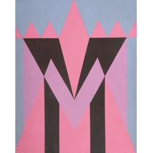 """JANDYRA WATERS - """"Sem titulo"""" Acrílico sobre tela. Ass. dat. 1984 no verso. 50 x 40 cm."""