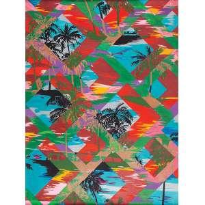 """CAETANO ALMEIDA - """"Paisagem"""" Guache sobre papel. Sem Ass. 60 x 45 cm. Com certificado Luisa Strina Galeria"""