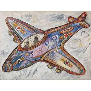 """LUIZ HERMANO - """"Preaoca"""" Óleo sobre tela. Ass. sup. dir. dat. 1982 no centro. 71 x 94 cm."""