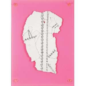 """PAULO CLIMACHAUSKA - """"Sem titulo"""" Colagem e pintura sobre acrílico. Sem ass. 41 x 31 cm."""