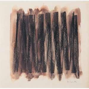 """MIRA SCHENDEL - """"Sem titulo"""" Técnica mista sobre papel. Ass. dat. 1963 inf. dir. Com etiqueta da Paulo Figueiredo Galeria de Arte no verso. 31 x 31 cm."""