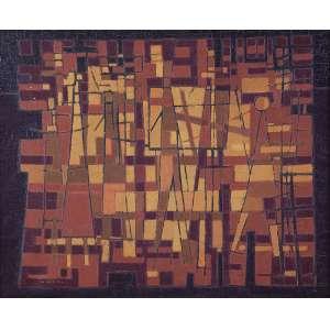 """MABE - """"Trabalhadores"""" Óleo sobre tela. Ass. inf. esq. Déc. 50. 60 x 73 cm. Registrado no Projeto Mabe."""