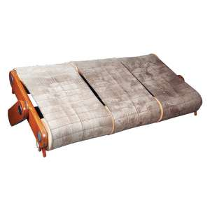"""SÉRGIO BERNARDES - """"Rampa"""" Sofá 3 lugares estrutura em madeira e ferro cromado. 1947. 110 x 230 cm."""