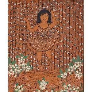 """ISABEL DE JESUS - """"Bailarina"""" Desenho á caneta e guache sobre papel sobre eucatex. Ass. dat. 1967 sup. dir. 23 x 19 cm. Ex. Coleção Renée Sasson."""