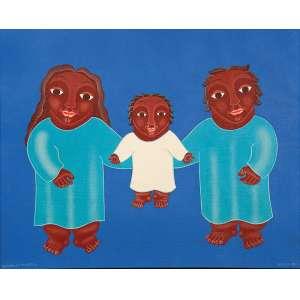 """CRISALDO DE MORAIS - """"Sagrada família"""" Óleo sobre tela. Ass. inf. esq. Ass. dat. 1990 e loc. """"Recife"""" inf. dir,Ass. tit. dat. no verso. 40 x 50 cm. Ex. Coleção Catharine Sasson."""