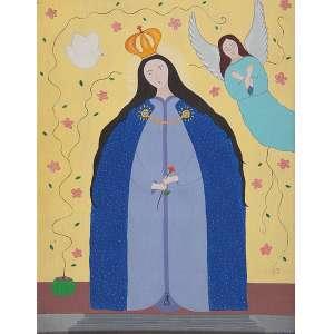 """CRISALDO DE MORAIS - """"Santa"""" Óleo sobre tela. Ass. dat. 1967 inf. dir. 66 x 51 cm. Ex. Coleção Catharine Sasson."""