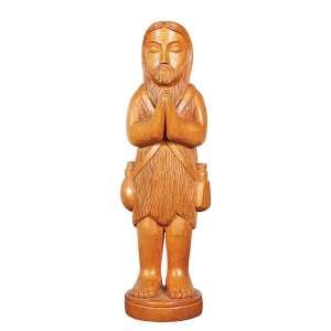 """MESTRE EXPEDITO - """"Santo"""" Escultura em madeira. Ass. e loc. """"T. Piaui"""" e dat. 2005. 36 cm de altura."""
