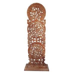 """MARIO TELLES - """"Sem titulo"""" Escultura em madeira. Ass. 201 x 65 x 25 cm."""