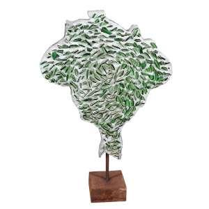 """IVENS MACHADO - """"Mapa do Brasil"""" -Concreto armado e cacos de vidro - Assinado -1979/2003. - Altura 60 cm - Largura 50 cm - Comprimento 10 cm - Com certificado de autenticidade Murilo Castro."""