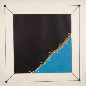 """ANNA MARIA MAIOLINO - """"Sem título"""" - Linha de costura e água forte sobre papel -Ass.dat.1974 inf.dir. - Altura 54 cm - Largura 54 cm"""