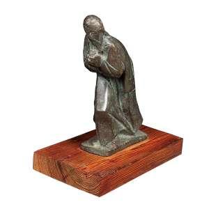 """BRUNO GIORGI - """"Sem título"""" - Escultura de bronze - Assinada. - 24 x 14 x 5 cm"""