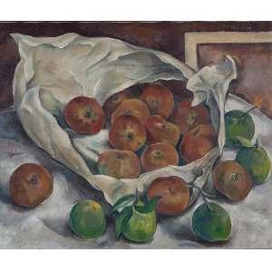"""TOLEDO PIZA - """"Frutas"""" - Óleo sobre tela - Ass. superior dir. - 45 x 54 cm"""