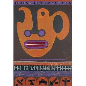 """NIOBE XANDÓ - """"Máscara"""" - Acrílico sobre tela - Ass. centro inf. dir., Ass.dat.1978/1989 no verso. - 115 x 80 cm - Catalogada sobre nº NX 01I00/0017."""