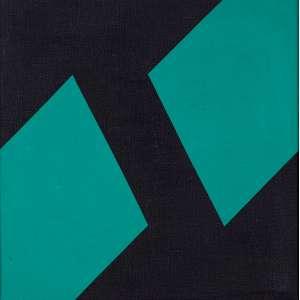 "VALDEIR MACIEL - ""Sem título"" - Óleo sobre tela -Ass.dat.1982 no verso. - 30 x 30 cm"