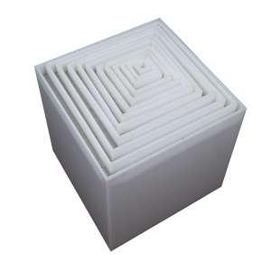 """ASCÂNIO MMM - """"Sem título"""" - Escultura em forma de caixa em acrílico. Múltiplo 17/100. - 40 x 40 x 40 cm"""