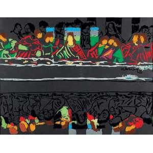 """NELSON LEIRNER - """" Sem título"""" - Guache sobre cartão e pintura sobre vidro - Ass. dat.1990 inf. dir. - 66 x 99 cm"""