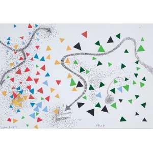 """FERREIRA GULLAR - """"Cobra Norato"""" Desenho a caneta e colagem sobre papel - Ass.dat.2007 inf. dir. e tit. inf. esq. - 20 x 29 cm"""