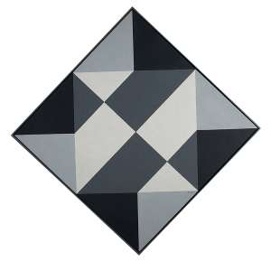 SACILOTTO - Série Intermutações - C 8613 - Têmpera vinílica sobre tela -Ass. no centro. 1,13 diâmetro. - 1,13 diâmetro