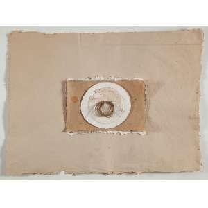 """BENÉ FONTELES - """"Sem título"""" - Colagem sobre cartão e barbante - Ass. inf. dir. - 73,5 x 103 cm"""