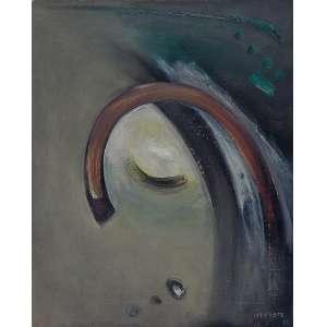 "DI PRETE - ""Sem título"" - Óleo sobre tela - Ass.dat. 1966 inf. dir. - 41 x 33 cm"