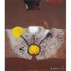 """FERNANDO ODRIOZOLA - Sem título"""" - Óleo sobre madeira - Ass.dat.1976 inf. dir. - 50 x 43,5 cm"""