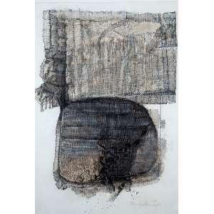 """TOMOSHIGUE KUSUNO - """"Sem título"""" - Nanquim e aquarela sobre papel. Ass.dat.1963 inf. dir. - 86 x 59 cm"""