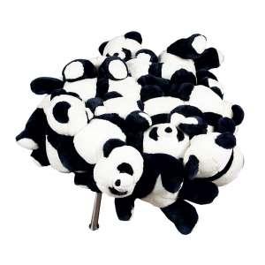 IRMÃOS CAMPANA - Panda Puff # 3/150 - Estrutura em aço inoxidável e ursos de pelúcia. - 80 x 80 x 45 cm - Acompanha certificado da obra.