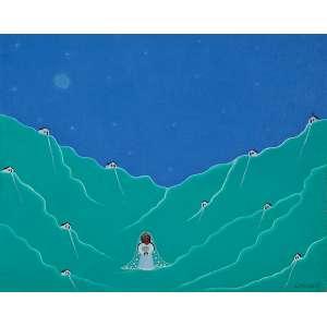 """CRISALDO DE MORAIS - """"Noiva"""" - Óleo sobre tela - Ass. inf. dir., ass. tit. dat.1971 no verso. - 40,5 x 50,5 cm"""