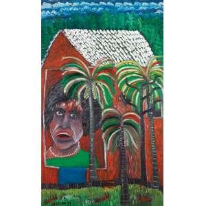 """JOSÉ ANTÔNIO DA SILVA - """"Retrato da Graciete"""" - Óleo sobre tela - Ass.dat.1997 inf. esq. Ass. tit. e dat. no verso. - 100 x 60 cm"""