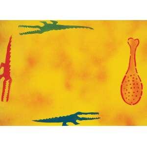 """ALEX VALLAURI - """"Sem título"""" - Grafite-recorte de eva - Déc.80. Sem assinatura. - 33 x 46 cm - Reproduzido na pág.52 do catálogo de exposição do artista Alex Vallauri São Paulo e Nova York como suporte realizado no MAM de São Paulo de 16/04 a 23/06 de 2013."""